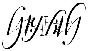 Gravity Ambigram 6 by Weegraphicsman