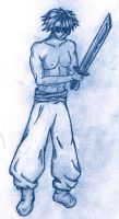 Guy with Sword and Poofy Pants by lumin