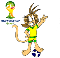 Brazil world cup with Icky! by Aso-Designer