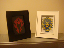 Alliance and Horde XStitch by NurseTab