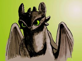 HTTYD - Toothless 2 by MaryJet