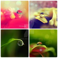 Collage of waterdrops by diensilver