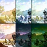 Color+mood studies 1 by weremagnus
