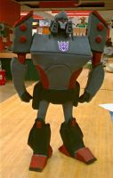 Megatron in Clay front by Fire-Redhead