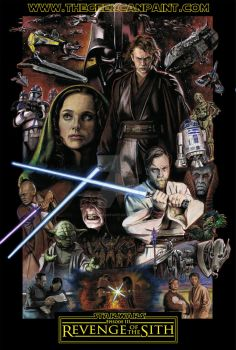 Star Wars, Episode Three: Revenge of the Sith by TheGeekCanPaint