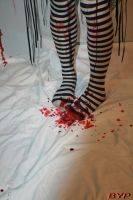 bloody stockings by CupCakeMonsterCrafts