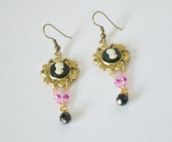 Victorian Dangle Earrings by RetroRevivalBoutique