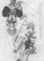 Kingdom Hearts_Sora n Roxas by Soul-of-the-Sword