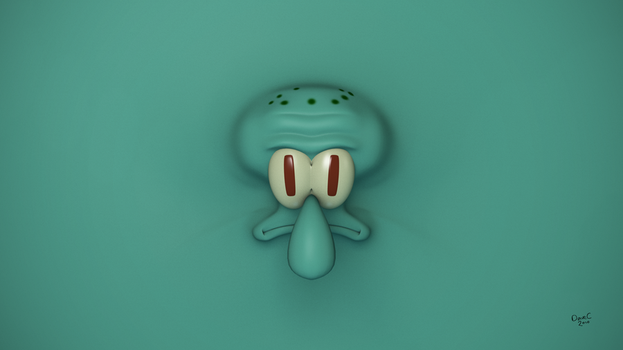 Squidward Tentacles Wallpaper by TheBigDaveC