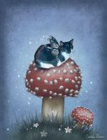 Fairy cat II by VioletDolphin