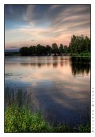 Evening at the lake by rATRIJS