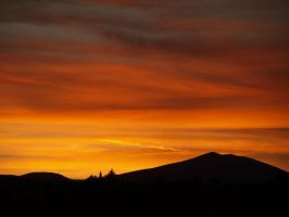 sunset on the mountain by gzib