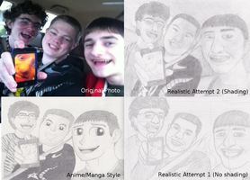 Friends Portraits Collage (Art class project) by The-Bryce-Is-Right