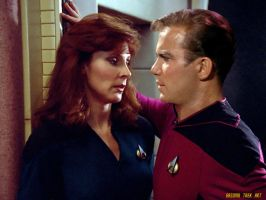 Beverly Crusher and James T Kirk Star Trek by gazomg