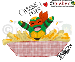 Chibi Mikey and Cheese Fries by nichan
