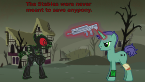 fallout equestria wall by mehoep