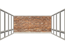 Brick Wall and Windows png by mysticmorning