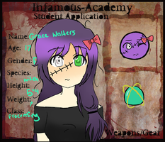 Infamous Academy - Gracie Walters by Shieru-Blue