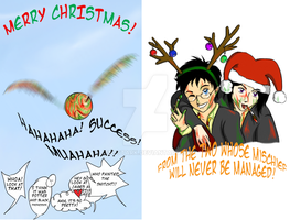 A Padfoot and Prongs X-mas by jeni-stark