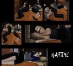 Wesker and Jill Naptime by SuperMeja