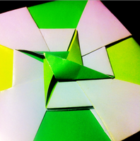 Yellow/Green Origami Box2 by H3LLoK66aren99