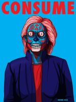 Hillary Clinton - Consume - THEY LIVE by HalHefnerART