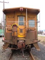 train yard 14 - caboose end by JensStockCollection