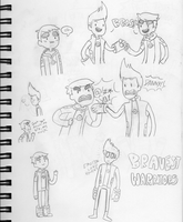 Bravest Warriors Doodles 1 by Sellotape-of-Love