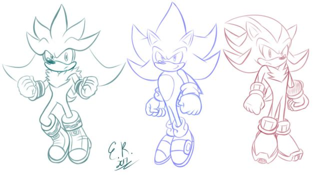 :Sketch: Super Hedgies by Shadow4one