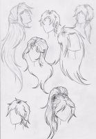 Hair playing - Practicing by Silvaines