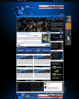 Gaming Layout Blue FOR SALE by dirkweber