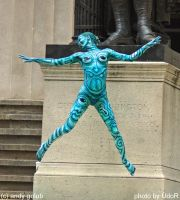 Ny wallstreet blue alien by Rabbit86