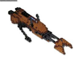 Speeder Bike 3D Bead Sprite by DrOctoroc