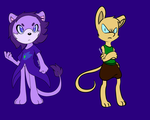 .:Test:.Purple Lion and Mouse by elisonic12