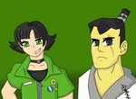 FusionFall Buttercup and Samurai Jack by Dan-Shattered-Heart