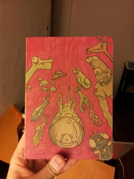 Sketchbook Project 2012 Cover by squirrelmafia