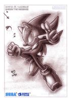 Shadow the Hedgehog (Charcoal Series) by darkspeeds