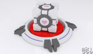 Companion Cube by Marty--McFly