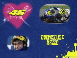 Valentino Rossi Wallpaper by IsK4nD3R