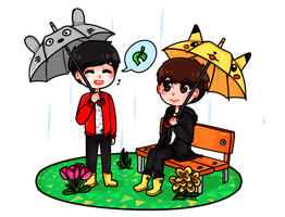 animal crossing dan and phil by BeThePiano