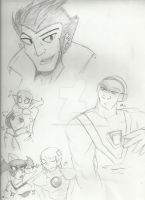 Canon practice doodles by Yoruhoshi
