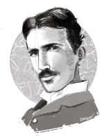 Nikola Tesla by Miss-Golden