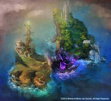 Dragonkin and Marshlander starting island by Deniya