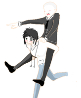 jeff and slendy piggy back by alexfgserfdh