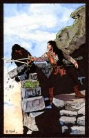 Princess Bride Sword Fight Watercolor... by ssava