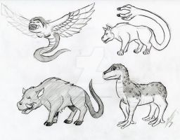 Mythical beasts 1 by Dragon-Storm