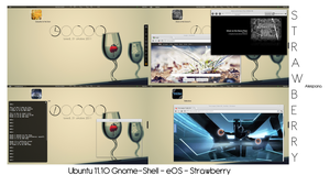 Ubuntu 11.10 - Strawberry by Alespana