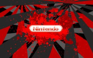 nintendo logo bloody sun 2 by Superxero0