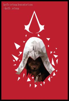 Assassins Creed 2 Low Poly Art - Ezio by Keith-arts02