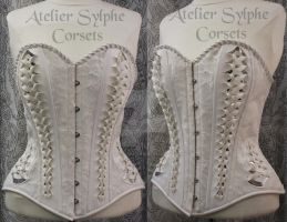 Atelier Sylphe Velvet feather style and PVC by AtelierSylpheCorsets